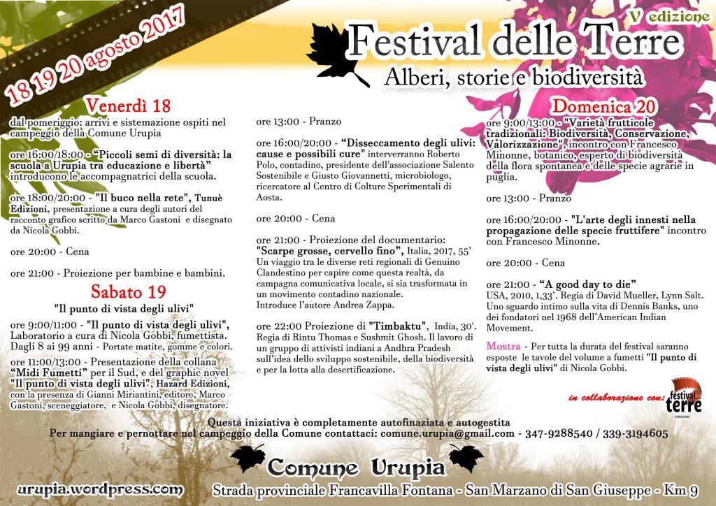 Festival delle Terre V Edzione @ la Comune Urupia